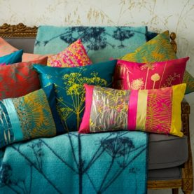 Kismet linen cushion - fluoro / brights