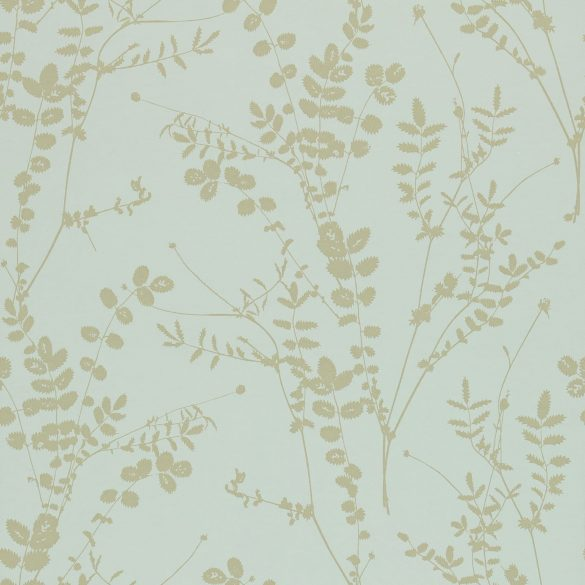 Salvia wallpaper - duck egg / pewter (110161)
