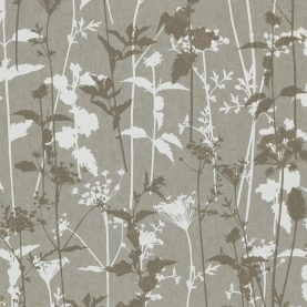 Nettles wallpaper - steel / white / pewter (110170)