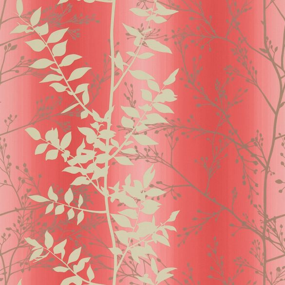 Persephone wallpaper - coral / honeycomb / pewter (110183)