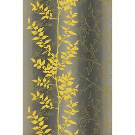 Persephone wallpaper - slate / turmeric / gold (110187)