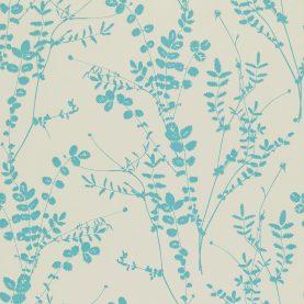 Salvia wallpaper - putty / aqua (110195)
