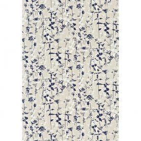 Nettles fabric - natural / midnight / white (120030)