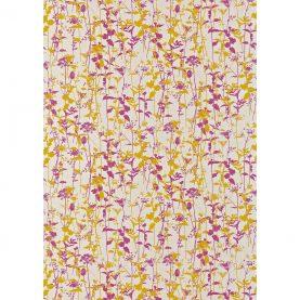 Nettles fabric - natural / turmeric / magenta (120031)
