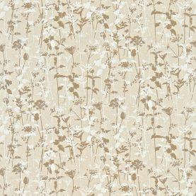 Nettles fabric - natural / mocha / white (120032)