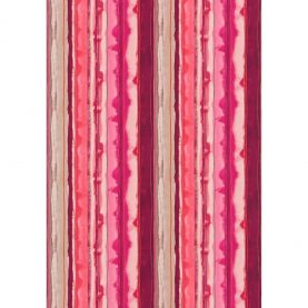 Demeter Stripe cotton fabric - hot pink / fuchsia / shell (120038)