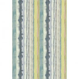 Demeter Stripe cotton fabric - indigo / ocean / soft lime (120039)
