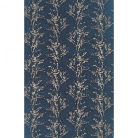 Salvia silk dupion fabric - midnight / pebble (130248)