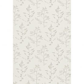 Livadi linen fabric - white / pewter (130249)