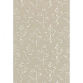 Livadi linen fabric - natural / white (130250)