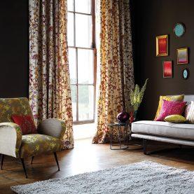 Potentilla fabric - honeycomb / turmeric (130257)