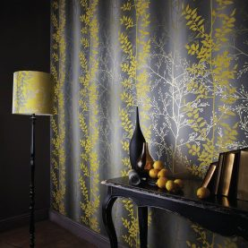 Persephone wallpaper - steel / putty / pewter (110186)