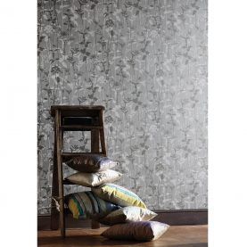 Nettles wallpaper - natural / white / indigo (110171)