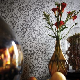 Dappled Leaf wallpaper - zinc / gun metal (110162)