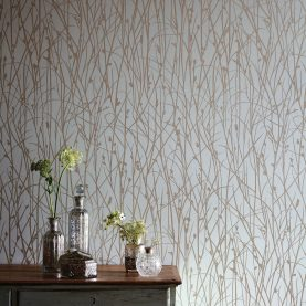 Grasses wallpaper - opal / pewter (110152)