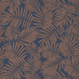 Espinillo wallpaper - indigo / copper (111393)