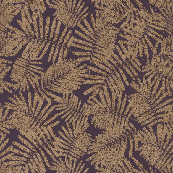 Espinillo wallpaper - aubergine / gold (111394)