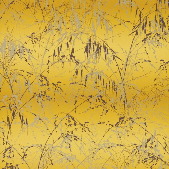 Meadow Grass wallpaper - mimosa / mulberry (111405)