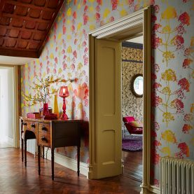 Angeliki wallpaper - mimosa / antique gold (111403)