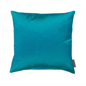 St. Lucia silk cushion - quince / kingfisher