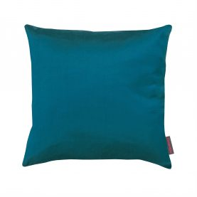 Garland silk cushion - kingfisher / peacock / duck egg / old gold
