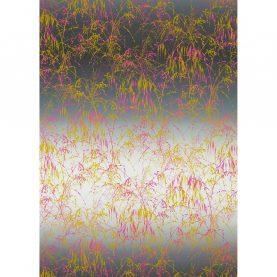Meadow Grass cotton fabric - mist / fluoro (120551)