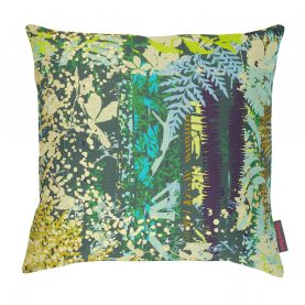 Kismet linen cushion - sepia / citrus / ocean
