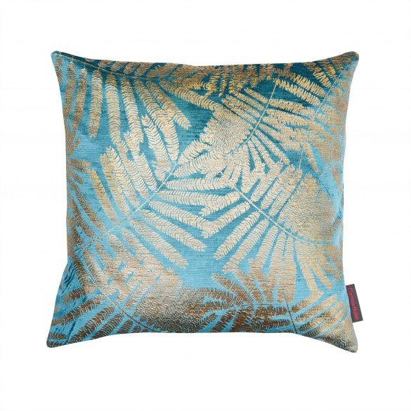 Espinillo velvet cushion - teal / brass