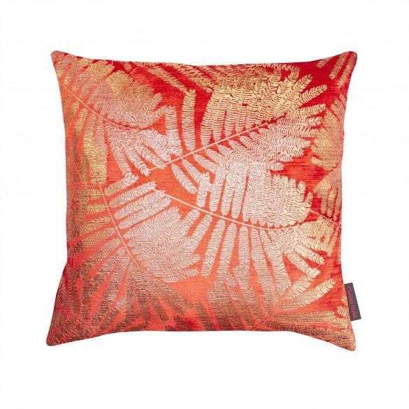 Espinillo velvet cushion - tiger lily / gold