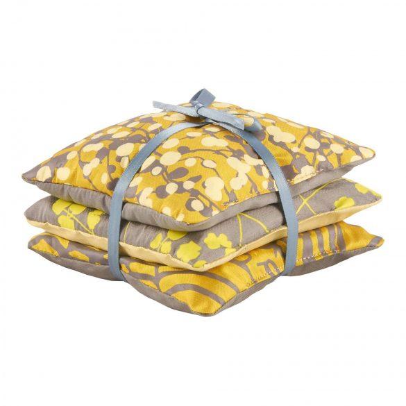 Lavender Bags - set of 3 - storm / turmeric / lemon