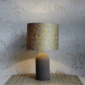 Garland silk lampshade - quince / dove