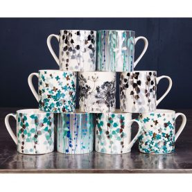 Boston Ivy mug - aqua