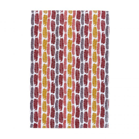 Mimosa Leaf tea towel - chilli / paprika