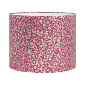 Garland silk lampshade - storm / hot pink / soft gold