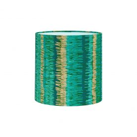 Textured Stripe silk lampshade - moss