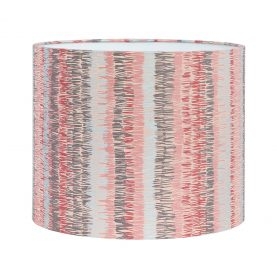 Textured Stripe silk lampshade - oyster