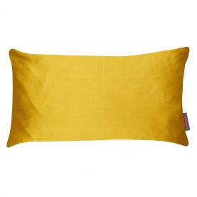 Falling Leaves patchwork cushion - turmeric / storm