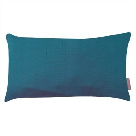 Falling Leaves patchwork cushion - moss / teal