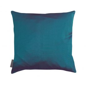 Falling Leaves silk cushion - moss / jade ombre