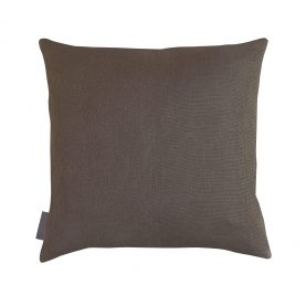 Falling leaves linen cushion - white / grey ombre