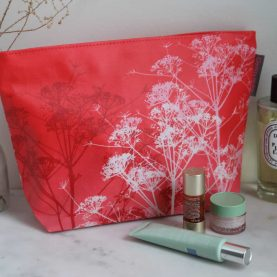 Large wash bag - dill - pink