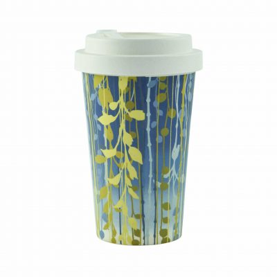 Bamboo travel cup - blue