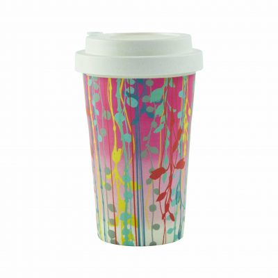 Bamboo travel cup - pink