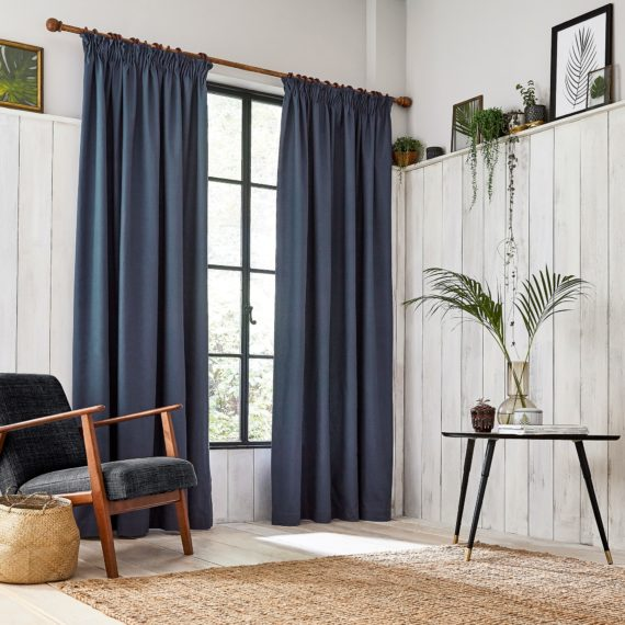 CLARISSA HULSE Chroma Dark Blue curtains main