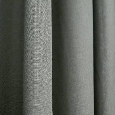 CLARISSA HULSE Chroma Grey curtains detail
