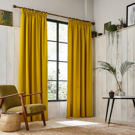 CLARISSA HULSE Chroma Mustard curtains main
