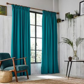 CLARISSA HULSE Chroma Teal curtains main