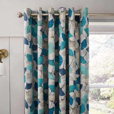 CLARISSA HULSE Ginko Blue curtains header