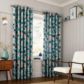 CLARISSA HULSE Ginko Blue curtains main