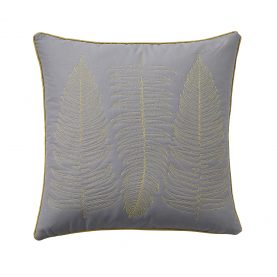 Ginkgo Collection cushion - grey / mustard